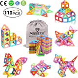 MIBOTE (110 PCS) Magnetic Building Blocks Educational Stacking Blocks Toddler Toys for Preschool Boys Girls Educational and C
