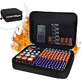 JUNDUN Battery Organizer,Fireproof Waterproof Hard Battery Storage Case,Silicone Battery Storage Box Holder,Hold 148 Batterie
