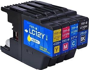 【Amazon.co.jp限定】ジット ブラザー(Brother)対応 リサイクル インクカートリッジ LC12-4PK 4色セット対応 JIT-NB124P