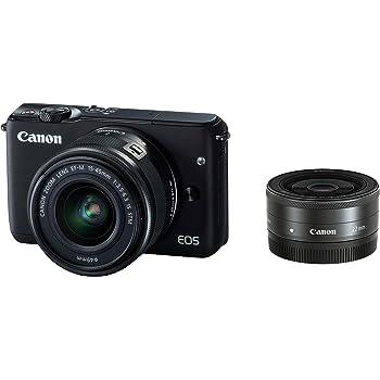 Canon ミラーレス一眼カメラ EOS M10 ダブルレンズキット(ブラック) EF-M15-45mm F3.5-6.3 IS STM EF-M22mm F2 STM 付属 EOSM10BK-WLK
