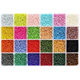 2mm Beads, 24 Colors Round Silver Lined- 2mm, 2mm