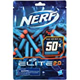 NERF Elite 2.0 - 50 Dart Refill Pack - Compatible With All Nerf Elite Blasters - Official Nerf Elite 2.0 Darts - Outdoor Game