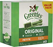 GREENIES Original Petite Dental Dog Treat, 1kg (60 treats)