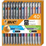 BIC Mechanical Pencil #2 EXTRA SMOOTH, Variety Bulk Pack Of 40 Mechanical Pencils, 20 0.5mm With 20 0.7mm Mechanical Led Penc
