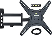 QualGear QG-TM-021-BLK Universal Ultra Slim Low Profile Articulating Wall Mounting Kit for most 23-inch to 47-inch and some 55-inch LED TVs, With 6ft HDMI v2.0 Cable
