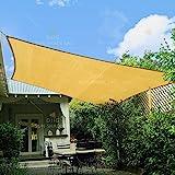 diig Sun Shade Sail Rectangle 8' x 10',95% UV Block 185 g/m² Heavy Duty Shade Cloth,Water-Proof Wind -Proof Sun-Proof Sunshad