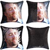 cygnus Nicolas Cage Sequin Pillow Cover Magic Mermaid Reversible Pillowcase That Color Changes Home Decor Throw Pillow Case S