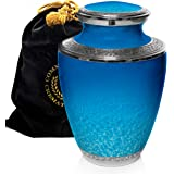 Ocean Tranquility Cremation Urns for Human Ashes Adult for Funeral, Burial, Columbarium or Home, Cremation Urns for Human Ash