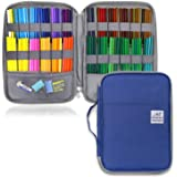YOUSHARES 96 Slots Colored Pencil Case, Large Capacity Pencil Holder Pen Organizer Bag with Zipper for Prismacolor Watercolor