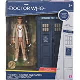Doctor Who 5th Dr and Tardis Set - Classic Dr Who Action Figure and Tardis Set - Doctor Who Merchandise - Character Options -