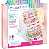 Make It Real - Crystal Dreams: Nature's Tale Jewelry - DIY Charm Bracelet Making Kit with Case - Friendship Bracelet Kit with