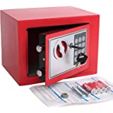 Electronic Deluxe Digital Security Safe Box Keypad Lock Home Office Hotel Business Jewelry Gun Cash Use Storage 17E Red