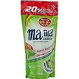 Mama Lemon Dishwashing Liquid Refill, Anti-Bacterial Green Tea, 600ml (Pack of 3)