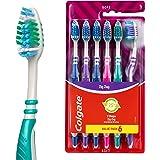 Colgate Zig Zag Toothbrush, Value 6 Pack, Soft Bristles, Deep Interdental Clean, 25% Recycled Plastic Handle