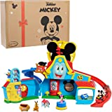 Just Play Disney Junior Mickey Mouse Funny The Funhouse 13 Piece Lights and Sounds Playset, Includes Mickey Mouse, Donald Duc