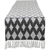 """DII CAMZ11274 Braided Cotton Table Runner, Perfect for Spring, Fall Holidays, Parties and Everyday Use 15x72"""" Black"""