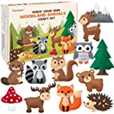 CiyvoLyeen Woodland Animals Craft Kit Forest Creatures DIY Sewing Felt Plush Animals for Kids Beginners Educational Sewing Se