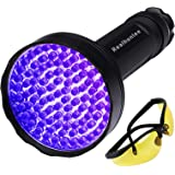UV Black Light Flashlight, Super Bright 100 LED #1 Best Pet Dog Cat Urine Detector light Flashlight for Pet Urine Stains, UV
