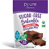 Organic Chocolate Fudge Brownie Mix by Pyure | Sugar-Free, Keto, Low Carb | Bakeables | Makes 11 Brownies