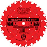 Freud 10 In. 24 Tooth Heavy Duty Rip Blade with 5/8 In. Arbor and PermaShield Coating (LM72R010)