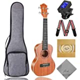 Concert Ukulele Ranch 23 inch Professional Wooden ukelele Instrument Kit With Free Online 12 Lessons Small Hawaiian Guitar uk