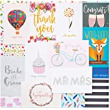48 Pack Assorted All Occasion Greeting Cards - Includes Birthday Wedding Thank You Note Cards Assortment - Bulk Box Set Varie