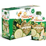 Happy Tot Organics Stage 4 Love My Veggies Stage 4 Organic Zucchini, Pears, Chickpeas & Kale, 4.22 Oz Pouch, 8Count