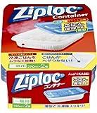 ジップロック コンテナー ごはん保存容器 薄型 2個入