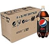 Pepsi Max Vanilla Cola Soft Drink, 8 x 2L