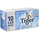 Tiger Crystal Beer Can, 320ml (Pack of10)