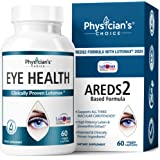 Areds 2 Eye Vitamins (Clinically Proven LuteMax 2020) Lutein, Zeaxanthin and Bilberry Supplement, Supports Eye Strain, Dry Ey