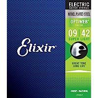 Elixir エリクサー エレキギター弦 OPTIWEB Super Light .009-.042 #19002 【国…
