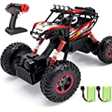 Hot Bee RC Cars 1:12 Remote Control Car for Boys,2.4Ghz 4WD Off Road Monster Truck W/Six LED Lights,Two Rechargable Batteries