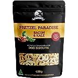 Bacon and Kale - 400g - Dog Biscuit Treats - Pretzel Paradise