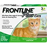 Frontline Plus Flea and Tick Treatment for Cat, 3 Count