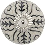 Mela Artisans 12-Pack Ceramic Knobs for Dresser Drawers - Decorative Cabinet Handles, Knobs, Pulls - Cabinet Handle for Kitch