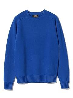 5 Gauge Wool Crewneck Sweater 11-15-0879-103: Blue
