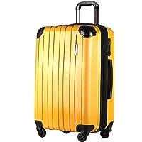 超軽量 TSAロック搭載 スーツケース キャリーバッグ PC/ABS材質 静音 コーナープロテクト キャリーバー 持ちや…