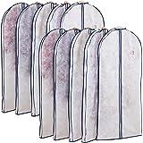 アストロ 洋服カバー マチ付 10枚 ロング 不織布 透明窓 防虫剤ポケット付き 底までカバー 110-74