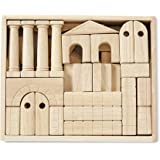 Melissa & Doug Architectural Unit Blocks (44 Building Blocks in 11 Shapes, Solid Wood)