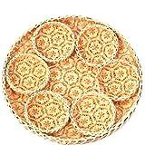 TV BAMBOO Bamboo Tray in Round Orange | Handmade Decorative Tray for Home Decor | Boho Wall Art for Living Room | Bamboo Kitc