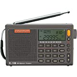 RADIWOW R-108 Radio Digital Portable Radio FM Stereo LW/SW/MW/AIR/DSP Receiver with LCD Sound for Indoor&Outdoor Activities f
