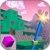 Cube Girls World Exploration: Craft Block 3D Cube World | Girls Cube World Pixel Craft Game | Girl Crafting Pixel Block Game