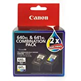 Canon Combo Ink Cartridges Twin Pack, Black/Multi-Colour, 28873 (PG640XLCL641XL)
