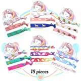 Unicorn Hair Ties Bracelet Elastic Ponytail HoldersParty Favors Birthday Gifts Supplies Decorations for Girl and Children 18