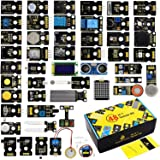 KEYESTUDIO 48 in 1 Sensor Modules Kit for Arduino MEGA, UN0 R3 Project, Electronics Components STEM Education Set (not Includ