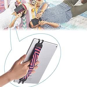 "SHC タブレットPC用安全ハンドストラップ - Apple iPad, iPad 4 (iPad 2 & 3), iPad Air (iPad Air 2), iPad Mini - iPad Pro 9.7 "" - Samsung Galaxy Tab & Note - Google Nexus - Asus Transformer Book, Microsoft Surface Pro & RT - Dell Venue - Lenovo IdeaTab - Sony Xperia Tablet Z (ブラック・グレー)"