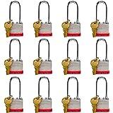Lion Locks 5PLS Keyed-Alike Padlock, 1-9/16-inch Wide 2-inch Shackle, 12-Pack
