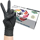 Heavy Duty Nitrile Gloves - Infi- Touch Black and Tough, High Chemical Resistant and Powder Free Gloves - (100 Count, Extra L