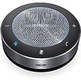 スピーカーフォン maxhub 多人数web遠隔会議用マイクワイヤレススピーカー 双方向通話 360˚全方向集音 エコー・ノイズのキャンセリング 高音質 LED指示 USB/Bluetooth/AUX対応 オンライン会議 テレワーク 在宅 PCマイク